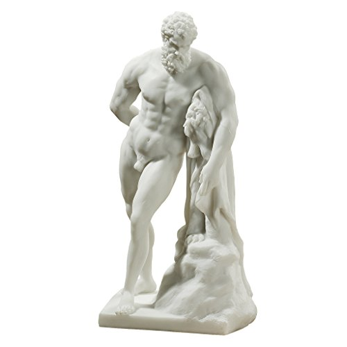 Greek Marble Statues - Design Toscano Bonded Marble (200 B.C.) Farnese Hercules Statue