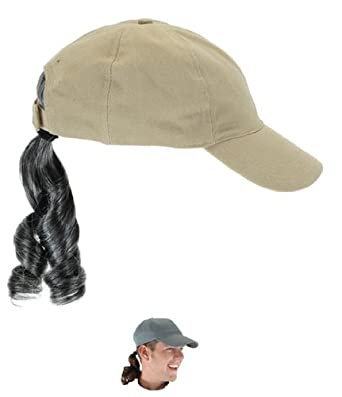 Disguise Costumes Baseball Cap With Wig  Amazon.co.uk  Clothing b62836ff8d1