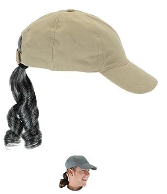Disguise Costumes Baseball Cap With Wig  Amazon.co.uk  Clothing 444912b1ac1