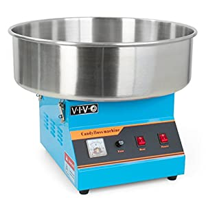 VIVO Blue Electric Commercial Cotton Candy Machine/Floss Maker (CANDY-V001B)
