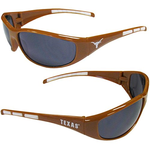 NCAA 3-Dot Wrap Sunglasses-UVA and UVB Protection-Many Teams! (Texas Longhorns)
