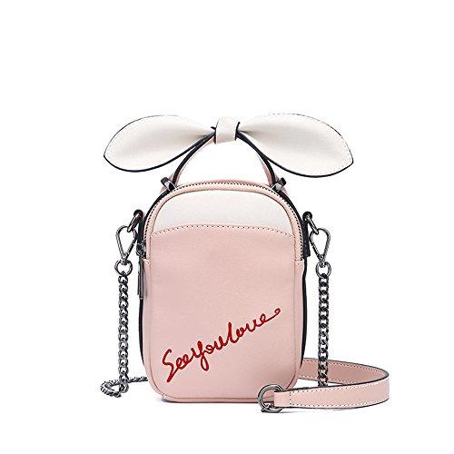 La Bolsa de Asas Diagonal del Bolso del Bolso de Señora Pink Zipper Bagbag (Color : Royal Blue) Rosado
