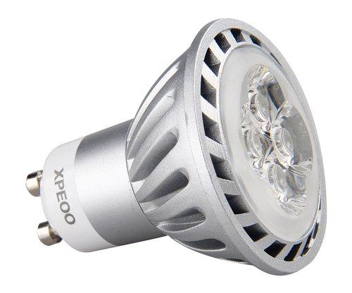 Xpeoo Dimmable 6w Gu10 LED Energy Saving Tracking/recessed/spot Lighting, Flood Light Bulb Base Socket, Equivalent to 50w International Standard Halogen Lamp Size, Cool White 110v 120v 40degrees (GU10 Dimmable Cool White 110V)