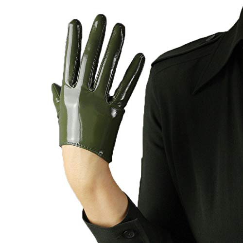 (Suede Faux Leather Gloves Faux Leather 6