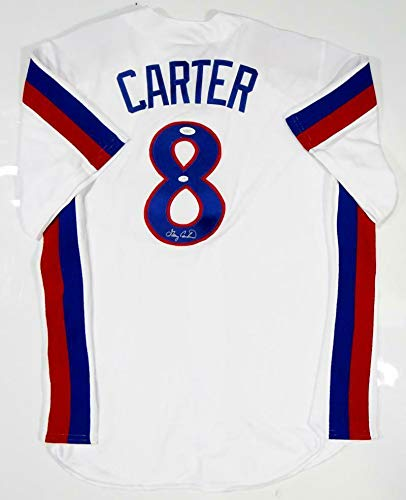 finest selection 2d1c1 a1cfa Signed Gary Carter Jersey - White Majestic W Auth - JSA ...