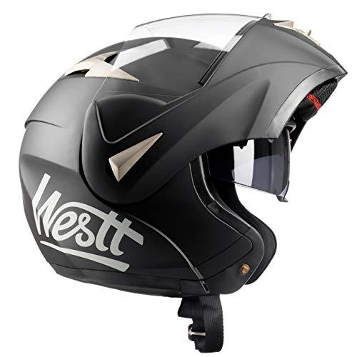 WESTT Torque Motorrad-Integralhelm I Motorradhelm schwarz-matt I Motorrad-Klapphelm I stoßfester Motorradhelm I…