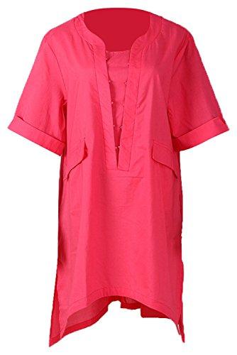 Wecloth Women's Medieval Short Sleeves Round Neck Pirate Cosplay Shirt Renaissance Vintage Shirt Plus Size