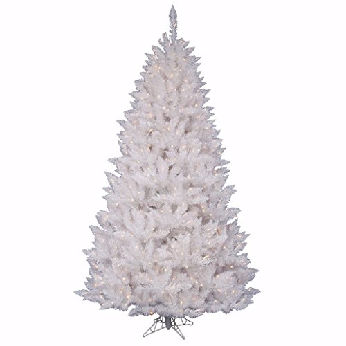 Vickerman Pre-Lit Spruce Tree with 200 Frosted Pure White LED Lights, 4.5-Feet, Sparkle White
