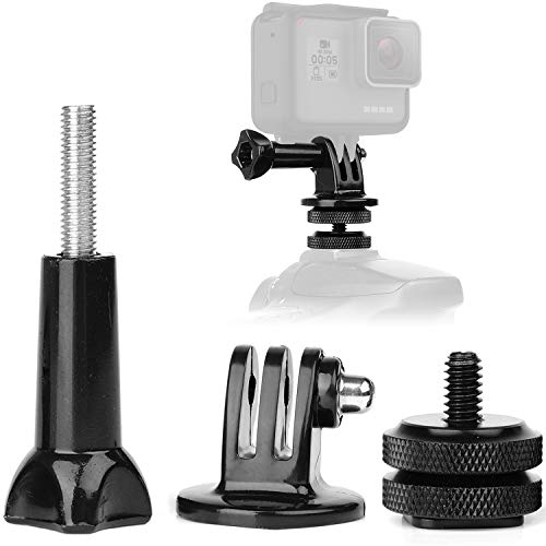 Anwenk Camera Hot Shoe Mount Adapter GoPro AdapterFit for GoPro Hero 7 6 5 4 Attaching on Gopro DSLR Camera or Ring Light Photography