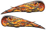 Inferno Motorcycle Gas Tank Flame Decals