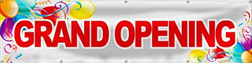 Wall26 Grand Opening Banner Sign Store Signs Flag - (Flag Banner Sign)