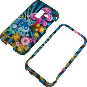 Neon Floral Protector Case for Samsung Conquer 4G SPH-D600 & Galaxy Attain 4G R920