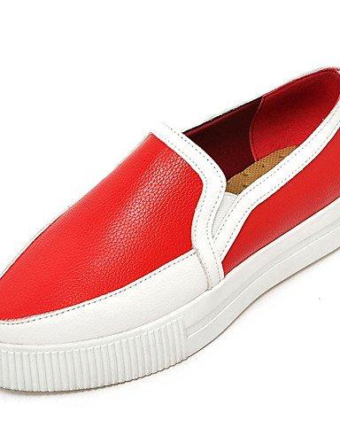 ZQ Zapatos de mujer-Plataforma-Creepers / Comfort-Mocasines-Vestido / Casual-Semicuero-Negro / Rojo / Plata , silver-us8 / eu39 / uk6 / cn39 , silver-us8 / eu39 / uk6 / cn39 silver-us8 / eu39 / uk6 / cn39
