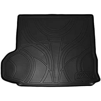 SMARTLINER All Weather Cargo Liner Floor Mat Behind 2nd Row Seat Black for 2014-2018 Toyota Highlander