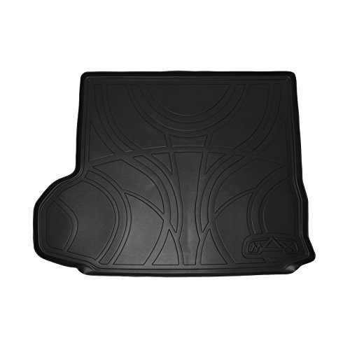 MAX LINER D0152 All Weather Custom Fit Cargo Trunk Liner Floor Mat Behind 2nd Row Seat Black for 2014-2019 Toyota Highlander