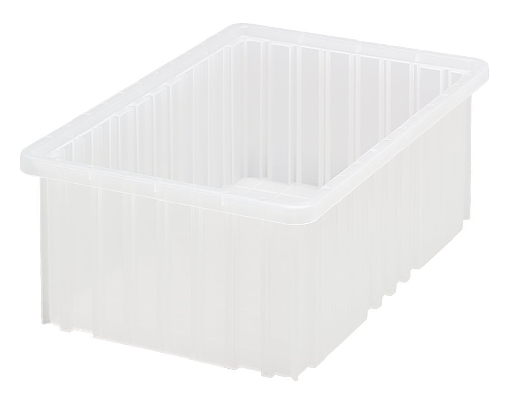 Quantum Storage Systems DG92060CL Dividable Grid Container 16-1/2-Inch Long by 10-7/8-Inch Wide by 6-Inch High, Clear, 8-Pack