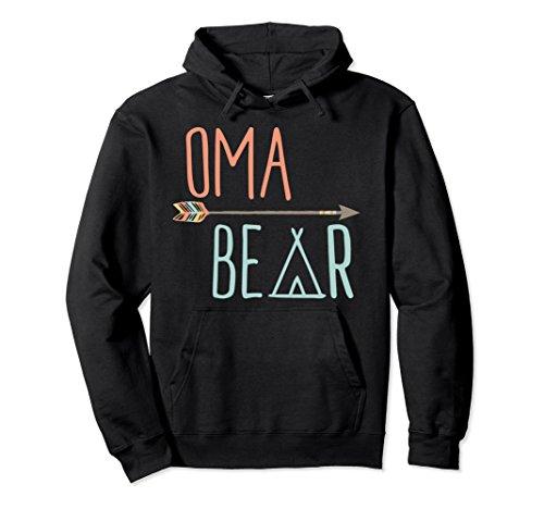 Oma Sweatshirt (Unisex Cute Oma Bear Hoodie Grandma Hoodie 2XL Black)