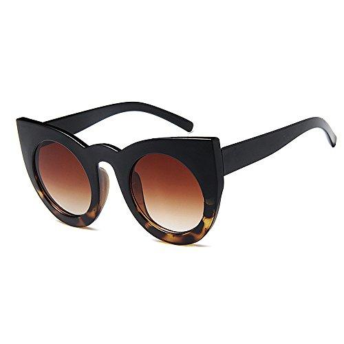lunettes Joo la surdimensionnées de personnalité soleil Lunettes conduite lentille la les de yeux lunettes chat soleil soleil yeux pour d'imp de cool personnalité couleur femmes de UV de protection de qrqwvBPt