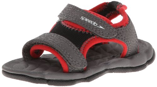 Speedo Grunion Sandal (Toddler),Black/Dark Gull Grey,Large (8/9 M US Toddler)