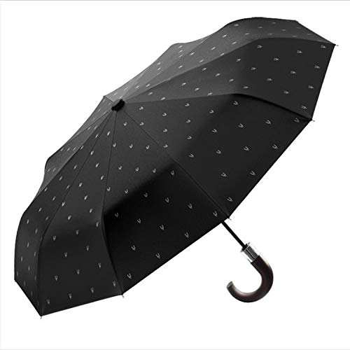 Wind Resistant Folding Automatic Umbrella Male Luxury Big Windproof Umbrellas for Men Rain Black Coating Mens Gifts Nylon XL,blue have pattern by Fragrancety (Image #5)
