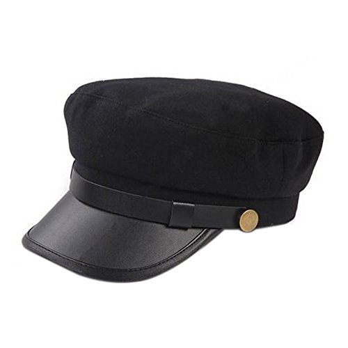 Unisex Vintage Cosplay Japanese Student Black Hat Cap Chauffeur Limo Driver Hat Flat -