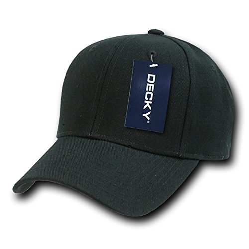 DECKY Fitted Cap, Black, 7 3/8