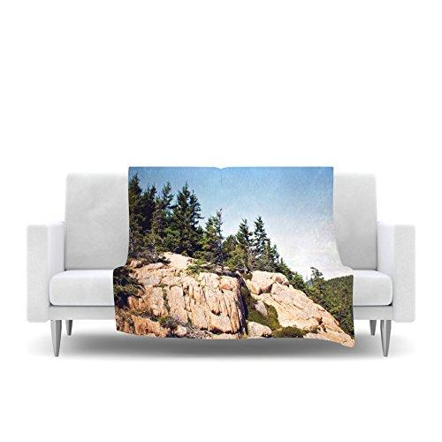 40 x 30 Kess InHouse Jillian Audrey Windswept Cliffs Brown Blue Fleece Throw Blanket