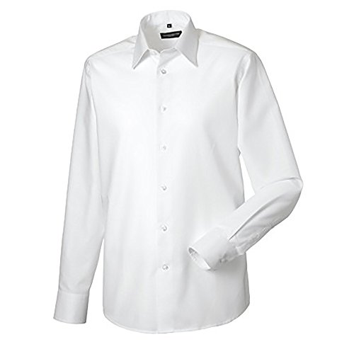 - Russell Collection Mens Long Sleeve Easy Care Tailored Oxford Shirt (19 Inch Collar / 46-48 Chest) (White)