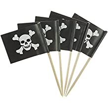 Pirate Flag Themed Skull Cupcake Toppers For Party Decorations Set of About 100 by GOCROWN
