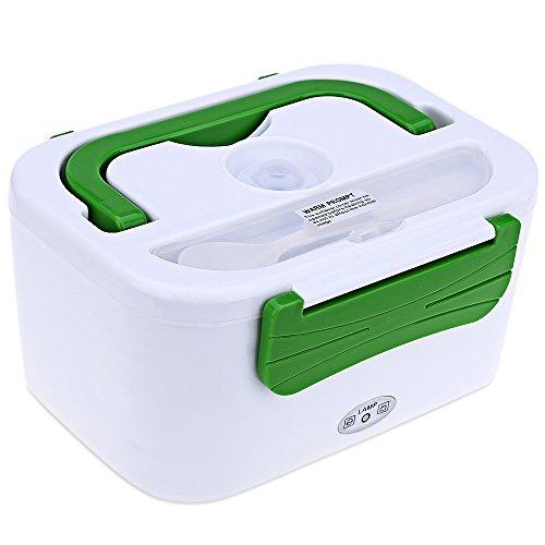 autolover 12V/1.2L coche calefacción eléctrica portátil Lunch Box calentador de comida multifuncional Double-Deck & #...