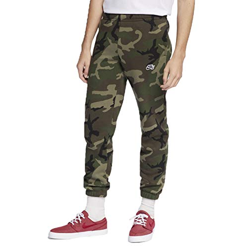 (Nike Men's SB Pant Icon Skate Pants (Medium Olive/Black, Large))