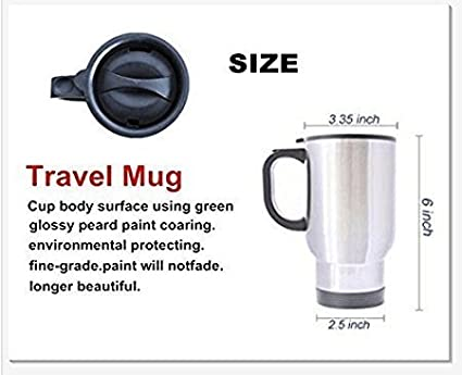 You Curse too much Bitch You Breathe too much Shut the Fuck up Stainless Steel Travel Mugs Material Mug or Gift Mug 14oz JaDean Towle
