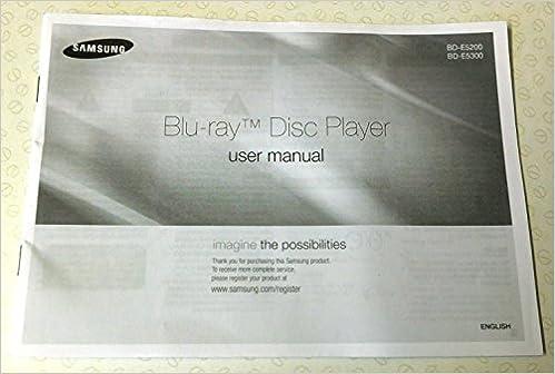 Samsung bd-e5300 blu-ray disc player user manual pdf.