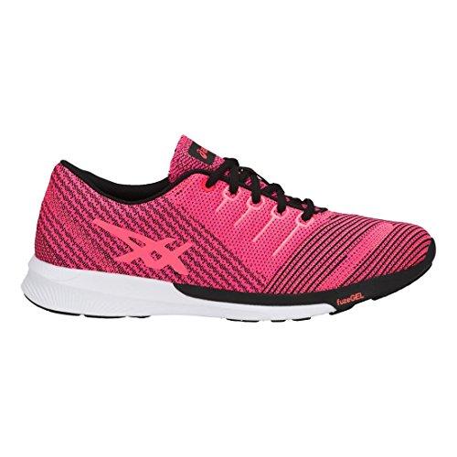 flash Tricot Fuzex Asics black Coral Pink Femme Glo RgvAawq