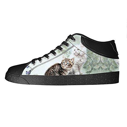 La Peinture Personnalisée Chats Mens Toile Chaussures Les Lacets En Haut Au-dessus Des Chaussures De Baskets Chaussures De Toile.