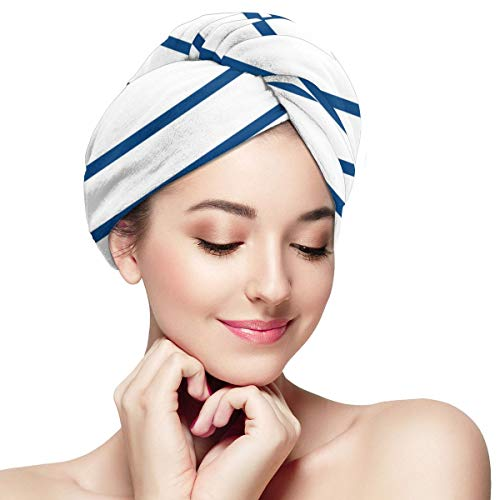 Microfiber Hair Turban Wrap Quick Drying Anti-frizz Ocean (13) Towel Super Absorbent