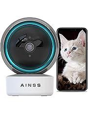 Wifi-IP-camera, babyfoon, bewakingscamera voor binnen, werkt met Alexa 2,4 GHz, wifi, huisdier-camera, nachtzicht, 1080p HD, automatische tracking, 2-weg audio, bewegingsdetectie, iOS/Android