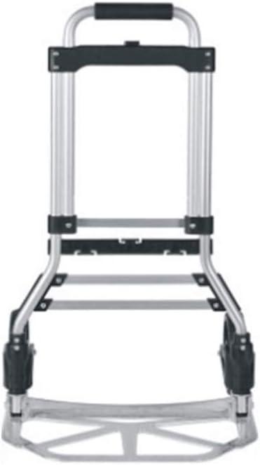 ZBM-ZBM Aluminum Luggage Cart Color: Black Load Trolley Folding Trailer Special Trailer Shopping Trolley