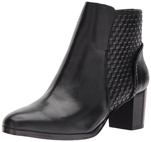 Jack Rogers Women's Deborah Smooth Ankle Boot, Black Leather