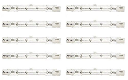 Anyray A1824Y (10-Pack) J78 50W 120V 50 Watt J Type DE T3 50Watts 78mm Halogen Bulbs 3 1/8'' inch by Anyray (Image #1)