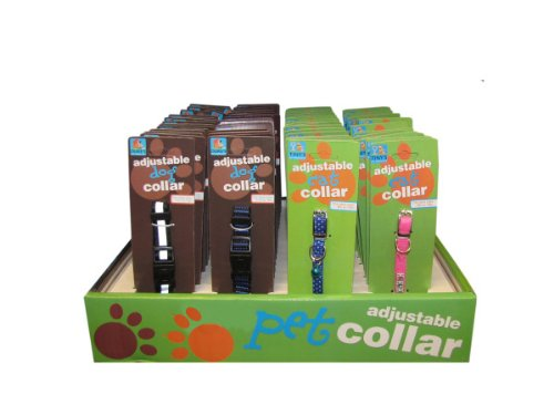 cat dog collars 3 assorted - Pack of 72 by bulk buys