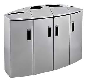 Element reciclado station - 4 tipos de residuos papel/botellas/contenedor de basura/dosis/Rubbermaid