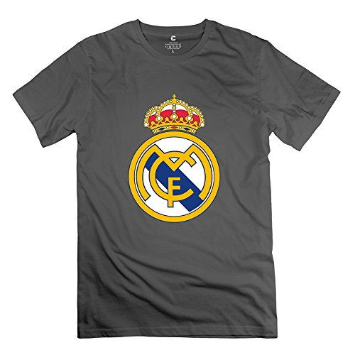 Men Real Madrid Logo Custom O Neck DeepHeather Tee Shirts By Mjensen – DiZiSports Store