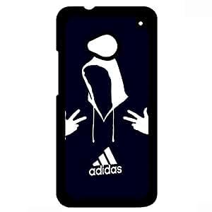 Adidas Logo Design Phone Case for HTC One M7 Black Hard Plastic Cover JM
