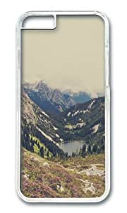 Apple Iphone 6 Case,WENJORS Awesome Mountain Flowers Hard Case Protective Shell Cell Phone Cover For Apple Iphone 6 (4.7 Inch) - PC Transparent