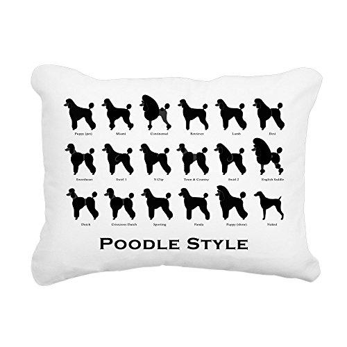 - CafePress Poodle Pattern Black (Large) Rectangular Canvas Pi 12