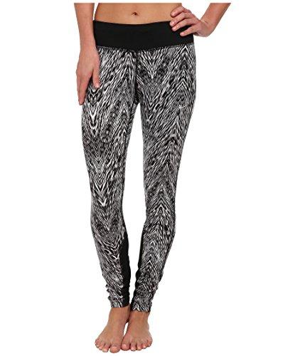 Nike Women's Dri-fit Printed Epic Run Tight Black/Black Matte Silver (X-Large, Black/Black Matte Silver)