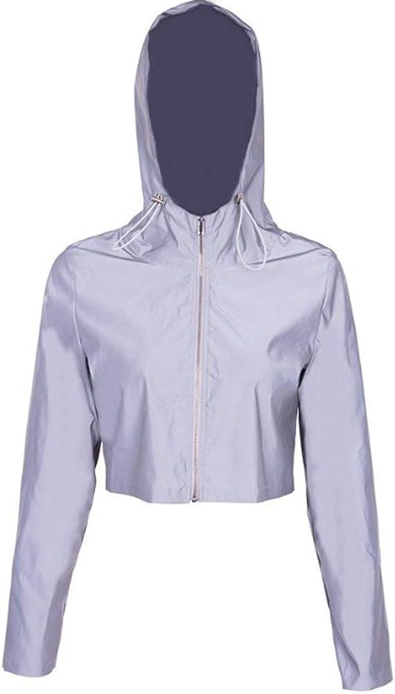 Top con Cerniera Riflettente oneforus Donna Reflective Jogger Hoodie Coat