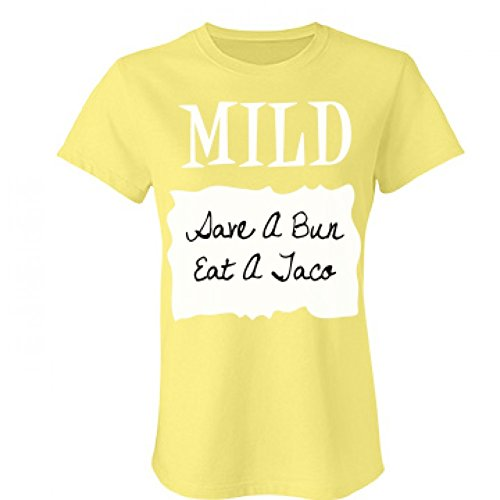 Mild Sauce Packet Costume: Junior Fit Bella Favorite T-Shirt (Cute Halloween Costumes For Girl Couples)