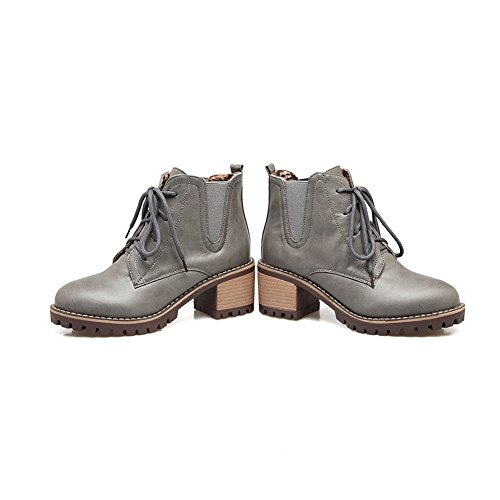BalaMasa Womens Casual Slip-Resistant Comfort Urethane Boots ABL10336 Gray R9S2uGK